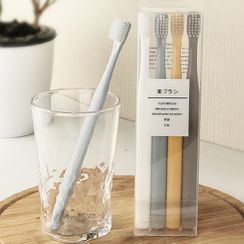 Cocotte - Set of 4: Travel Toothbrush