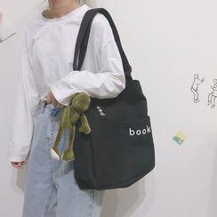 Katleon - Lettering Embroidered Shoulder Bag