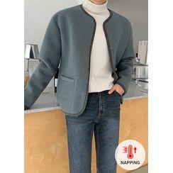 JOGUNSHOP - Piped Snap-Button Napped Jacket