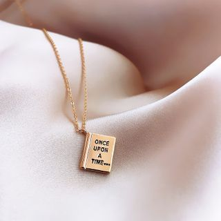 Catalunya - Alloy Book Pendant Necklace