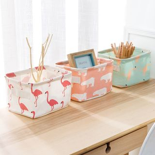 Home Simply - Caja de almacenamiento de tela (S)