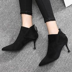 ONESTEP - 仿麂皮高跟及踝靴
