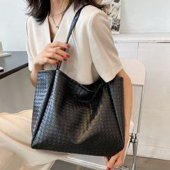 7th Rainbow - Faux Leather Carryall Bag