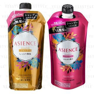 花王 - Asience Rich Shampoo Refill 340ml - 2 Types