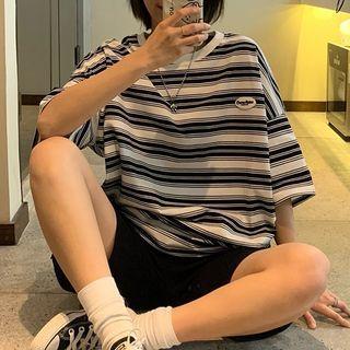 DiBi - 3/4-Sleeve Striped T-Shirt