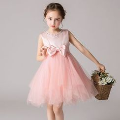 Doveark - Kids Bow A-line Party Dress