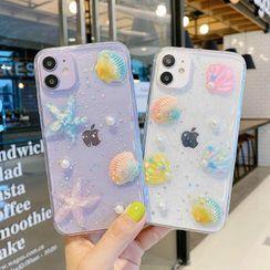 NISI - Shell Starfish & Faux Pearl Transparent Phone Case - iPhone 12 / iPhone 11 Pro Max / 11 Pro / 11 / SE / XS Max / XS / XR / X / SE 2 / 8 / 8 Plus / 7 / 7 Plus
