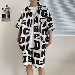 Andrei - Set: Short-Sleeve Printed Shirt + Shorts