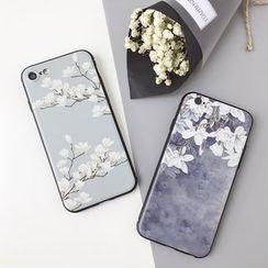 Baripa(バリパ) - Floral Print Phone Case - iPhone 7 / 7Plus / 6s / 6s Plus