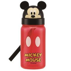 Skater - Mickey Mouse Die Cut Drinking Bottle with Straw