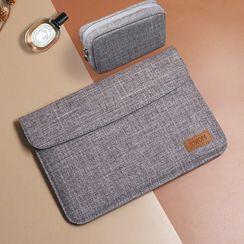 Simkim - Plain Laptop Sleeve / Zip Accessory Pouch / Set