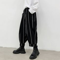 ANCHO - Striped Cropped Harem Pants