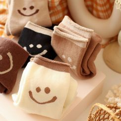 Minuola - Smiley Face Print Socks