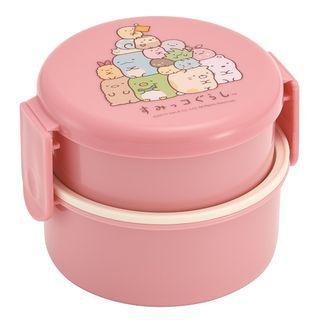 Skater - Sumikko Gurashi Round Lunch Box 500ml (with Fork) (Pink)