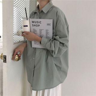 Moon City - Boxy Long-Sleeved Shirt