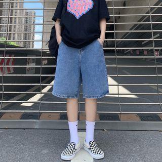 Sophia - Wide-Leg Denim Shorts