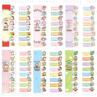 Sanrio - Index Notepad 8 pcs - 15 Types