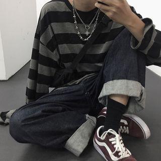 Koiyua - 长袖条纹T裇