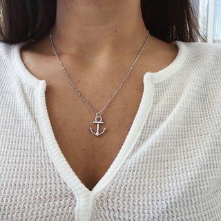 Gemsha - Anchor Pendant Necklace