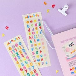 iswas - Glittered Alphabet / Number Sticker