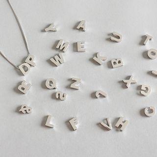 Phoenoa(フェノア) - 925 Sterling Silver Alphabet Pendant Necklace