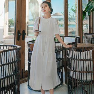 Ariadne - 泡泡袖直身連衣中裙