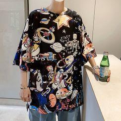 Cowpow - Elbow-Sleeve All Over Print T-Shirt