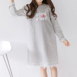 RoRoRi - Kids Lettering Pullover Dress