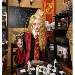 Malnia Home - Set: Harry Potter Hogwarts Student Cosplay Costume Robe + Tie