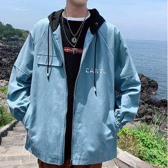 Newise - Printed Hooded Zip Jacket
