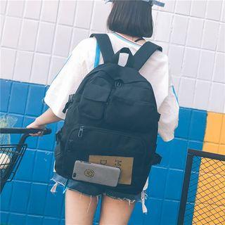 Sosara - Front Mesh Pocket Oxford Backpack
