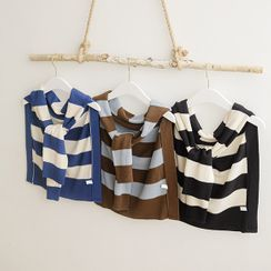 JUSTONE - Decorative Stripe Knit Scarf