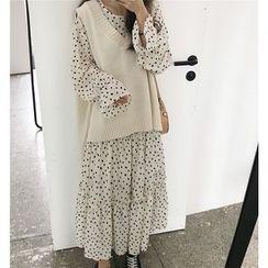 Eccles - Long-Sleeve Print Midi Dress