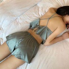 Rorah - Pajama Set: Spaghetti Strap top + Shorts