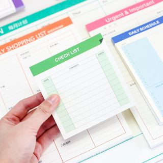 Homey House - Schedule Memo Pad