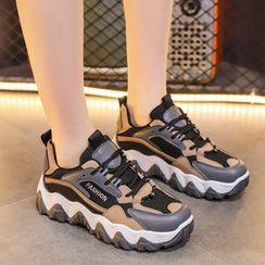 Asterisk - 厚底系带休閒鞋