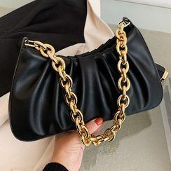 FAYLE - Shirred Chained Shoulder Bag