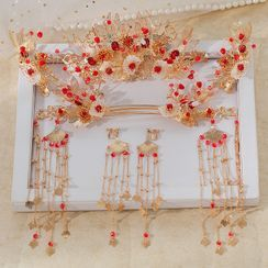 la Himi - Set: Wedding Branches Tiara + Hair Stick + Dangle Earring