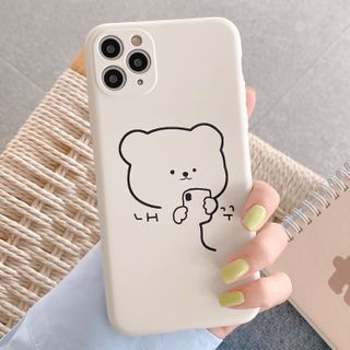 Aion(アイオン) - Bear Print Phone Case - iPhone 11 Pro Max / 11 Pro / 11 / SE / XS Max / XS / XR / X / SE 2 / 8 / 8 Plus / 7 / 7 Plus