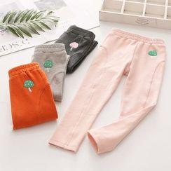 貝殼童裝 - 小童蘑菇刺繡褲