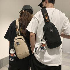 Carryme - 字母貼布繡斜背包