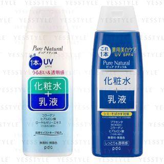 pdc - Pure Natural 雙效化粧水乳液 SPF 4 210ml - 2 款