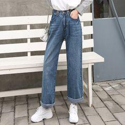 GEE58 - High-Waist Wide-Leg Jeans