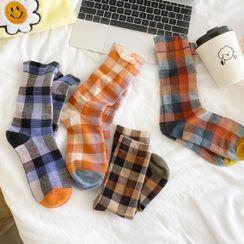 Olsin - Gingham Socks