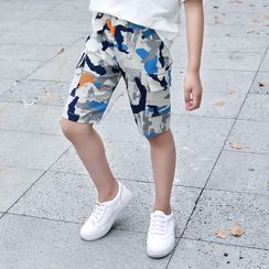 Spring Foresta - Kids Camo Print Shorts