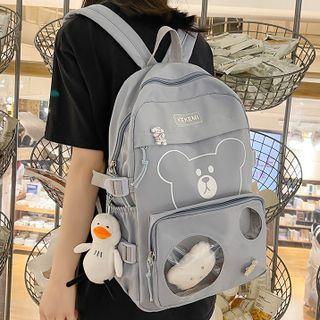 EAVALURE - Bear Nylon Backpack
