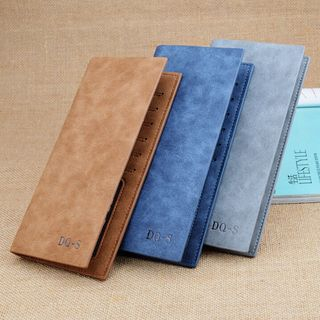 Marchsome - Faux Leather Flap Long Wallet