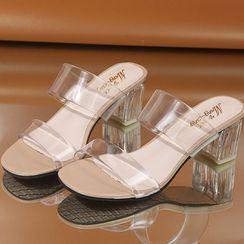 Terute - 粗跟透明带凉鞋