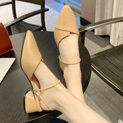 Terute - 尖頭粗跟涼鞋