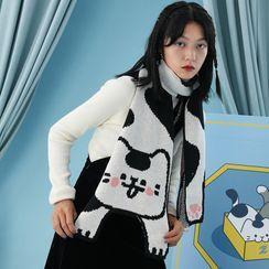 Nibby - Cat Print Knit Scarf